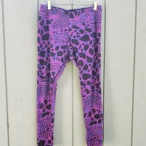 Pink and Purple Graphic Nike Leggings